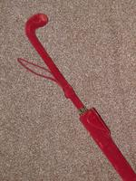 Antique Red / Orange Patterned Canopy Umbrella W/Red Velvet Handle & Canopy Cover (13 of 14)