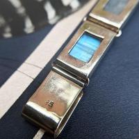 Vintage Sterling Silver Moonstone Panel Bracelet (6 of 11)