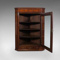 Antique Corner Cabinet, English, Oak, Flame Mahogany, Cupboard, Georgian c.1800 (3 of 12)