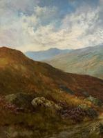 (1of2) Huge Exceptional 19thc Snowdonia Welsh Mountain Landscape Oil Painting (10 of 15)