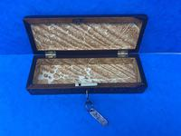 William IV Rosewood Glove Box with Stick Ware & Tunbridge Ware (13 of 14)