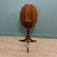 Victorian Mahogany Antique Tripod Occasional Wine / Lamp Table (4 of 6)