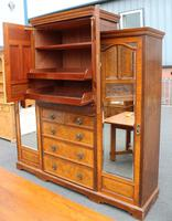 1900's Large Well Fitted Burr Walnut Compactum Wardrobe (2 of 7)