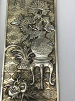 Antique Chinese Solid Silver Zu Yin Hallmarked Scroll Weight Plaques Guangxu (11 of 24)