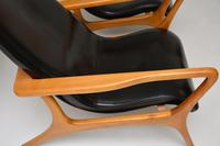 Pair of Vintage Leather Armchairs in the Manner of Vladimir Kagan (10 of 15)