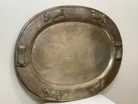 Large Danish Sporting Victorian 19th Century Danish Silver Plate Salver (23 of 31)