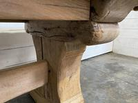 Rustic Bleached Oak Farmhouse Refectory  Table (15 of 21)