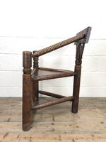 Antique Carved Oak Corner Chair (9 of 10)