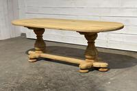French Bleached Oak Monastery Dining Table (8 of 30)