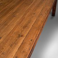 Large, 8 Seat Antique Dining Table, English, Pine, Country Kitchen, Victorian (9 of 11)