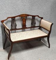 Inlaid Mahogany Window seat