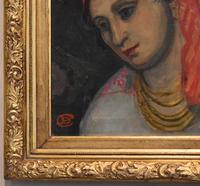 Oil Painting of a Lady with a Red Headscarf (5 of 8)