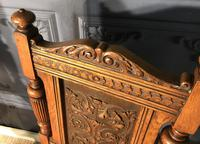 Pair of Victorian Oak Hall Chairs (6 of 17)