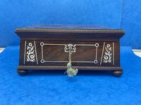 William IV Rosewood Box With Mother Of Pearl Inlay (4 of 14)