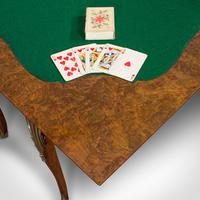 Antique Card Table, French, Burr Walnut, Fold Over, Games, Victorian c.1870 (12 of 12)