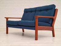 Completely renovated sofa, 70s, furniture wool, teak (5 of 13)