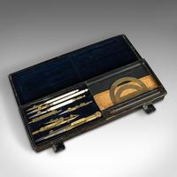 Antique Technical Drawing Set, Architect, Cartographer, Instruments, ANCSL, 1920 (8 of 10)