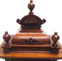 German Carved-Oak 8-Day Mantel Clock by Junghans (10 of 13)