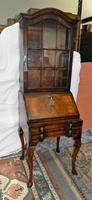 Walnut Bureau Bookcase c.1920 (3 of 7)