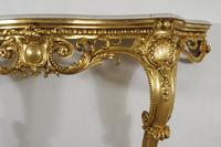 19th Century Gilt Console Table with Marble Top (5 of 17)