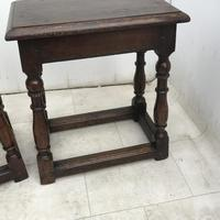 Pair of Oak Coffin Stools Circa Late 17th Century (23 of 24)