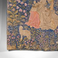 Large Antique Tapestry, French, Needlepoint, Decorative Wall Covering c.1920 (9 of 12)