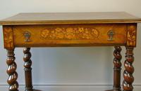 Good Dutch Marquetry Walnut & Kingwood Inlaid Table (3 of 11)