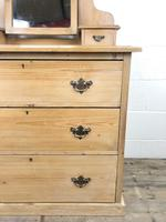 Antique Pine Dressing Table Chest with Drawers (4 of 11)