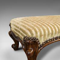 Long Antique Foot Stool, English, Coaching, Fireside, Early Victorian c.1840 (4 of 10)