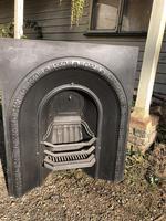 Antique Cast Iron Arched Fire Place Insert