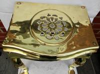 Antique English Victorian Brass & Steel Footman (3 of 6)