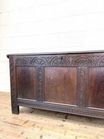 18th Century Antique Oak Panelled Coffer (4 of 12)