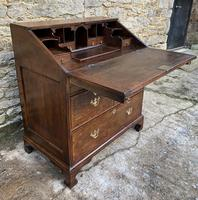 18th Century Georgian Oak Crossbanded Bureau (14 of 22)