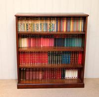Edwardian Mahogany Open Bookcase c.1910 (9 of 11)