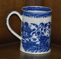 Late 19th Century Pearlware Cider Mug Decorated With Blue and White Chinoiserie (3 of 7)