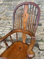 Pair of Antique Broad Arm Windsor Chairs (18 of 28)