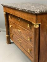 French Empire Commode Chest of Drawers with Marble Top (7 of 7)