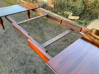 Victorian Mahogany Extending Dining Table with 3 Leaves seats 12 (6 of 8)