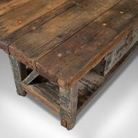 Large Antique Silversmith's Bench, English, Pine, Craftsman's Table, Victorian (9 of 10)