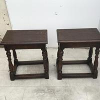Pair of Oak Coffin Stools Circa Late 17th Century (2 of 24)