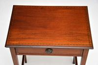 Antique Edwardian Inlaid Mahogany Side Table (9 of 9)
