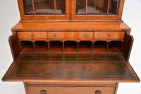 Antique Inlaid Mahogany Secretaire Bureau Bookcase (10 of 11)