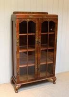 Walnut Chinoiserie Decorated Bookcase (2 of 10)