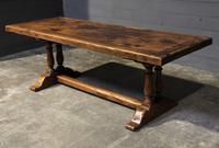 Wonderful French Chestnut Farmhouse Refectory Dining Table (32 of 37)
