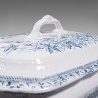 Pair of Antique Serving Tureens, English, Ceramic, Lidded Dish, Victorian, 1900 (10 of 12)