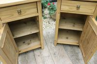 Fabulous! 'Chunky' Pair of Old Pine Bedside Cabinets - We Deliver! (4 of 8)