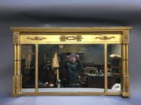 19th Century Gilt Overmantel Mirror (10 of 10)