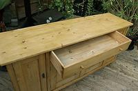 Big! Old 2m Pine Dresser Base / Sideboard / Cupboard / TV Stand - We Deliver! (8 of 13)