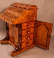 "Superb Victorian Burr Walnut ""Jack in a Box"" Davenport (3 of 16)"