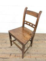 Harlequin Set of 19th Century Welsh Oak Ball & Rail Back Chairs (8 of 11)